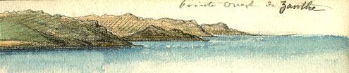 La pointe ouest de l'Ile de Zanthe