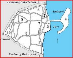 Limites de la ville d'Alger en 1830